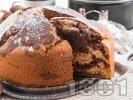 Рецепта Пухкав кекс с какао, канела и орехи